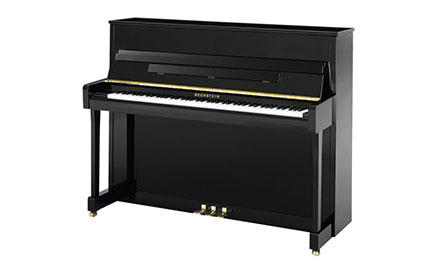 Markson pianos bechstein upright pianos for Small upright piano dimensions